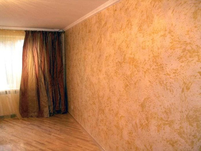 Отделка внутренних стен декоративной штукатуркой: 75 фото, в.
