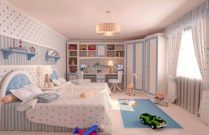 вариант яркого декора комнаты для девочки