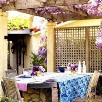 идея красивого интерьера веранды в доме фото