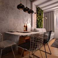 идея необычной декоративной штукатурки в интерьере гостиной фото