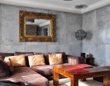 идея необычной декоративной штукатурки в стиле квартиры под бетон фото