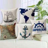 идея оригинальных декоративных подушек в дизайне спальни фото