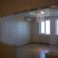 вариант ярких декоративных штор в стиле квартиры картинка