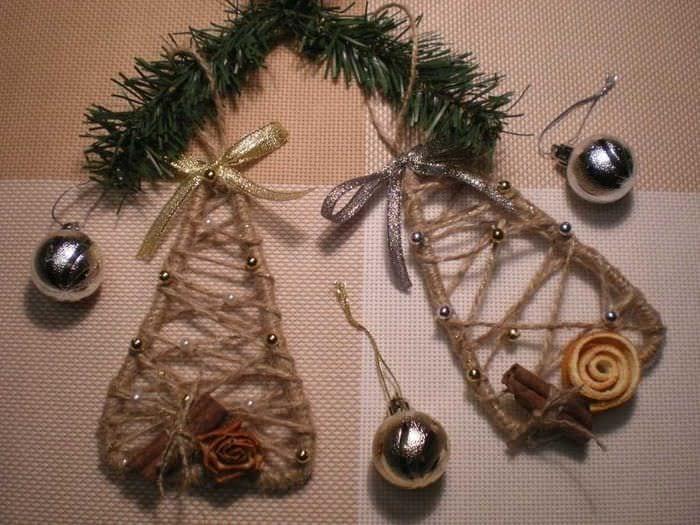 идея праздничного украшения предметов своими руками