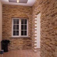 вариант применения оригинального декоративного кирпича в интерьере квартиры фото