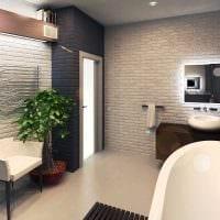 идея применения красивого декоративного кирпича в стиле комнаты картинка