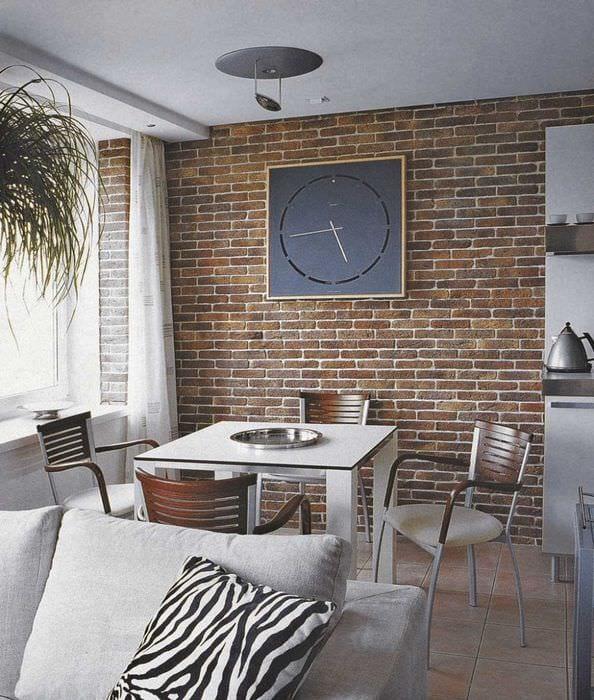 идея применения оригинального декоративного кирпича в дизайне квартиры