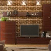 идея применения красивого декоративного кирпича в стиле комнаты фото