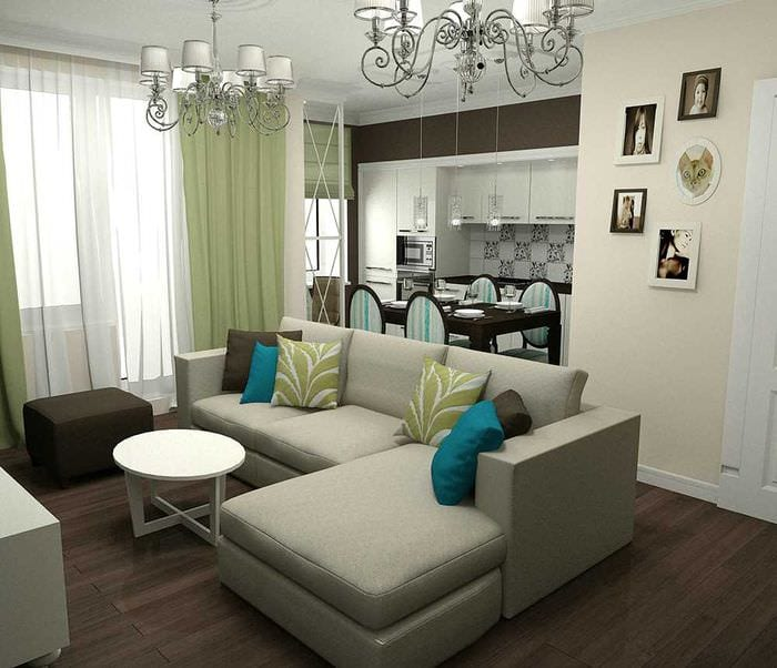 идея оригинального декора спальни 3-х комнатной квартиры