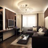 вариант современного дизайна гостиной 3-х комнатной квартиры фото
