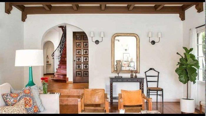 идея необычного дизайна спальни с аркой