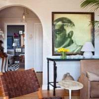 вариант красивого дизайна гостиной с аркой картинка