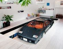 вариант современного стиля гаража фото
