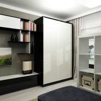 идея оригинального дизайна гостиной комнаты 17 кв.метров картинка