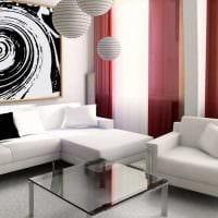 вариант современного декора кухни с диваном фото