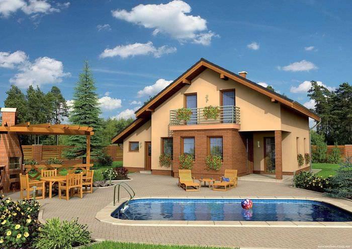 идея красивого дизайна маленького бассейна