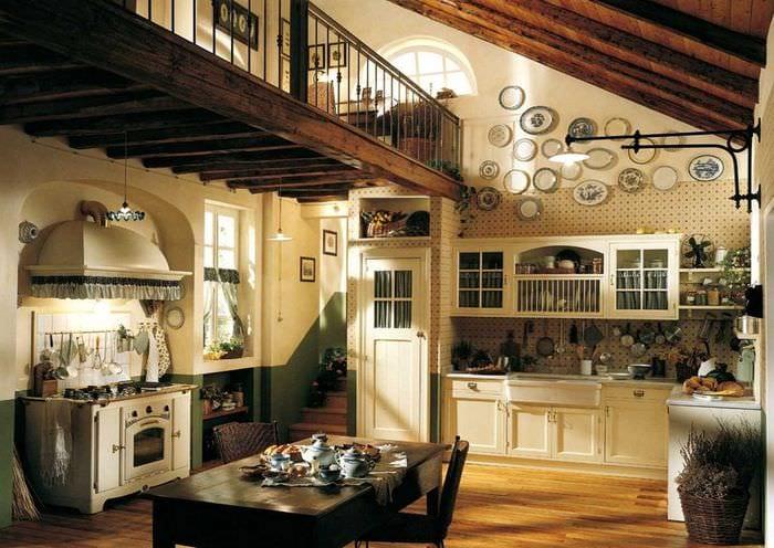 идея красивого дизайна комнаты в деревенском стиле