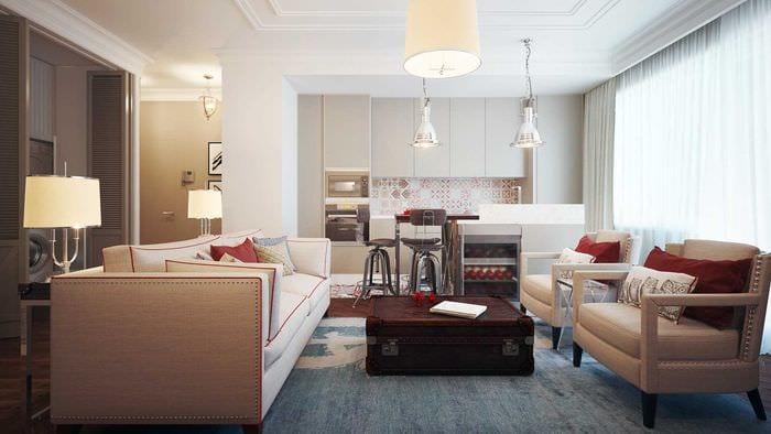 вариант современного декора спальни 3-х комнатной квартиры