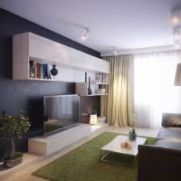 вариант современного оформления гостиной комнаты 17 кв.метров картинка