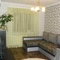 идея красивого интерьера гостиной комнаты 17 кв.метров фото