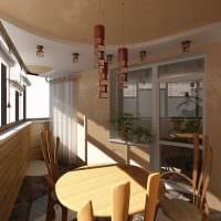 идея оригинального стиля маленького балкона картинка
