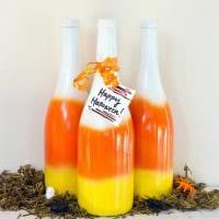 идея оригинального декорирования бутылок красками фото