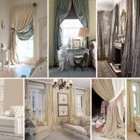 вариант необычных декоративных штор в интерьере комнаты картинка