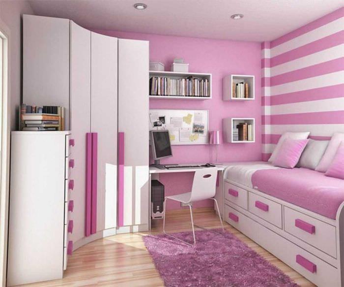 идея красивого стиля спальни для девочки