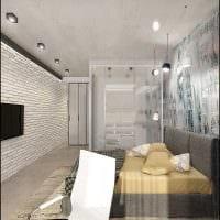 вариант оригинального декорирования интерьера спальной комнаты картинка