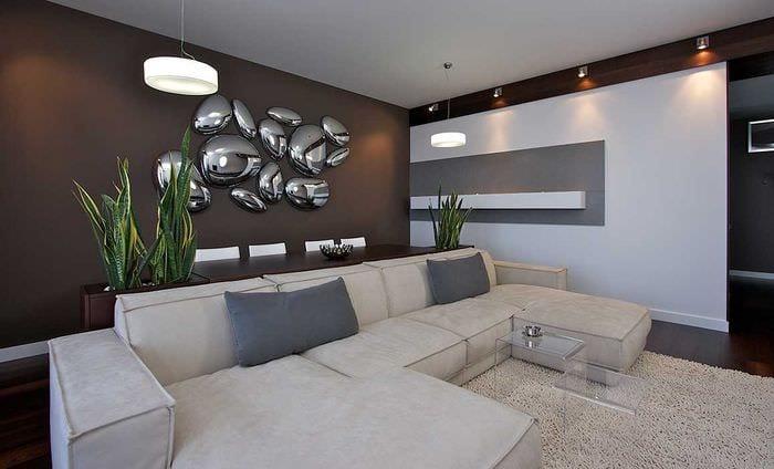 идея красивого украшения стен в помещениях