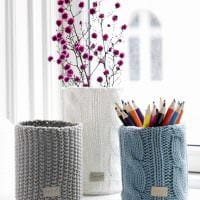 идея красивого декорирования вазы картинка
