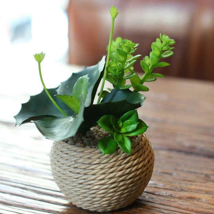 идея необычного декорирования вазы