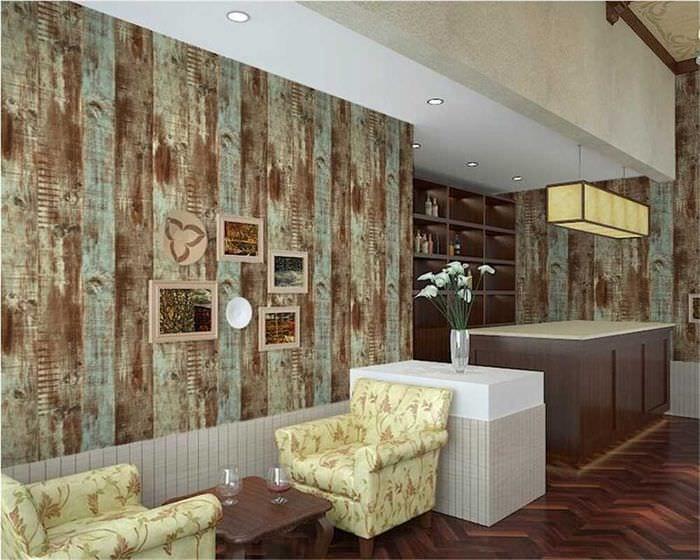 идея яркого дерева в дизайне квартиры