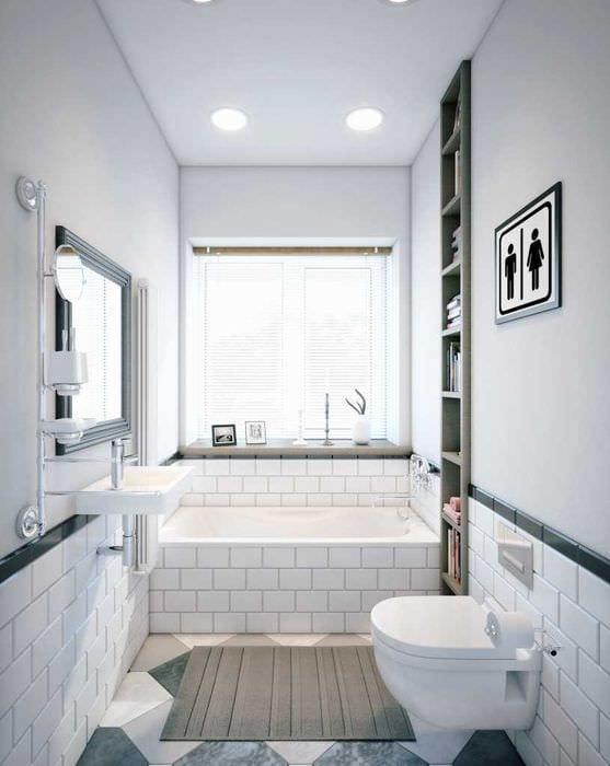 идея необычного стиля белой ванной