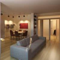 вариант необычного интерьера гостиной комнаты 17 кв.метров фото