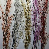 вариант оригинального декора вазы с декоративными цветами картинка