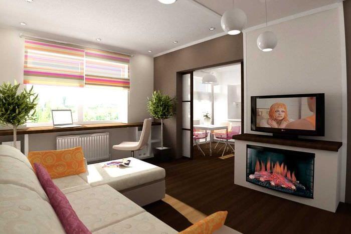 идея оригинального дизайна квартиры