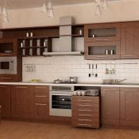 идея красивого стиля большой кухни картинка