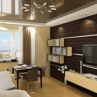 вариант красивого оформления гостиной комнаты 17 кв.метров фото