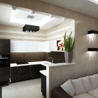 идея необычного стиля 2 комнатной квартиры картинка