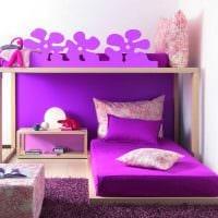 вариант оригинального стиля спальни для девочки фото