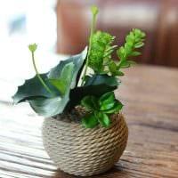 идея оригинального декорирования напольной вазы картинка