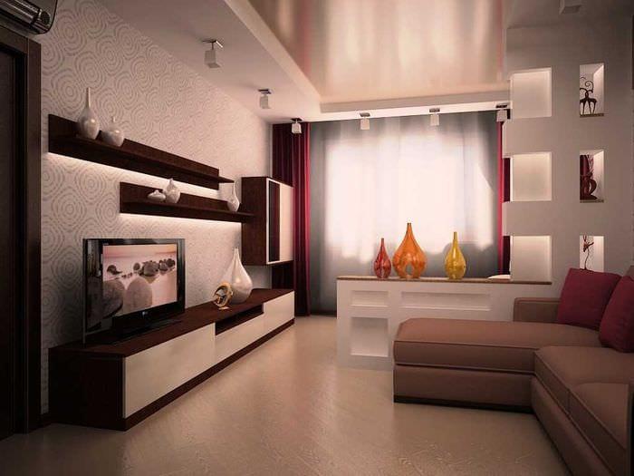 Интерьеры гостиных в стандартных квартирах фото