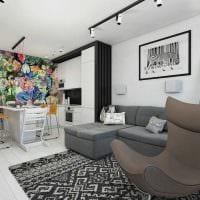 вариант необычного дизайна 2 комнатной квартиры картинка пример