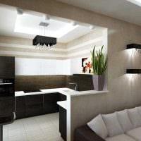 вариант яркого стиля квартиры картинка пример