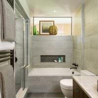 вариант оригинального интерьера ванной комнаты картинка