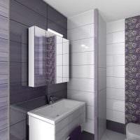 идея оригинального стиля ванной комнаты в квартире фото