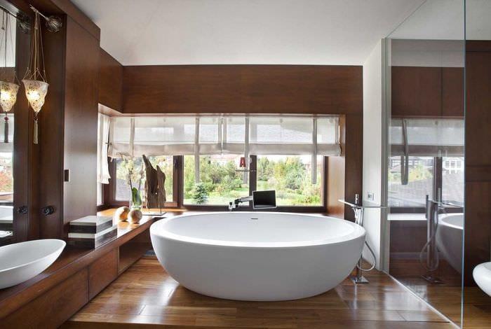 идея оригинального интерьера ванной
