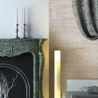 вариант красивой декоративной штукатурки в стиле квартиры под бетон картинка