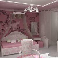 вариант яркого дизайна детской комнаты для девочки картинка